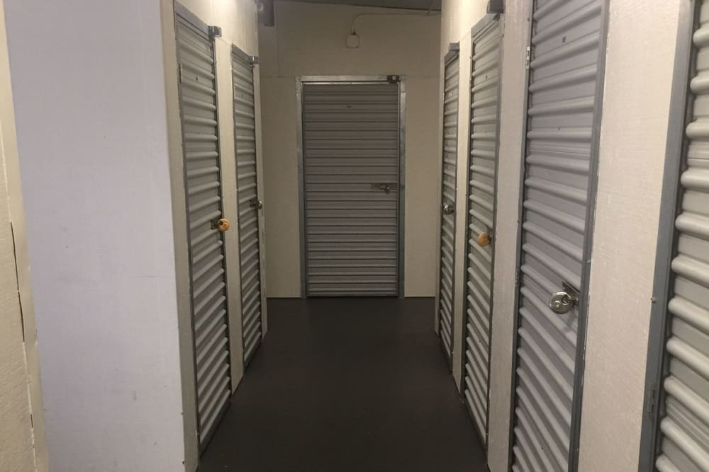 Indoor units at Trojan Storage in Sacramento, California