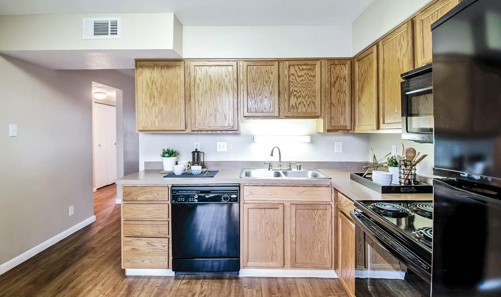 Kitchen at Broadmoor Ridge Apartment Homes in Colorado Springs, Colorado