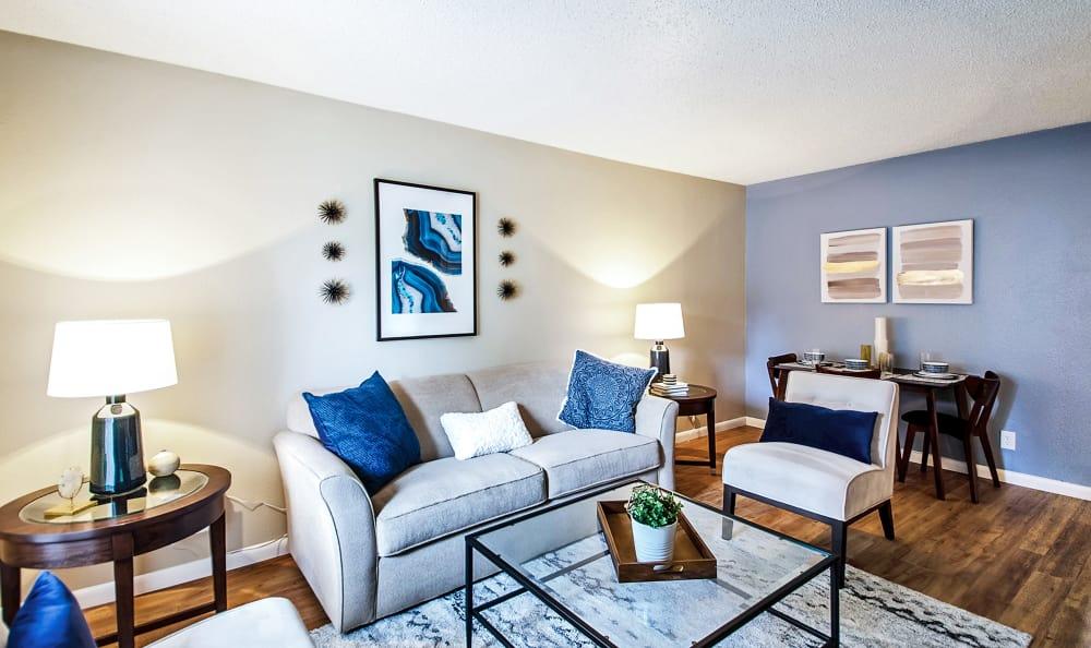 Living Room at Broadmoor Ridge Apartment Homes in Colorado Springs, Colorado