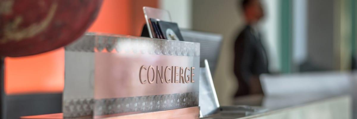 The concierge desk at Coast Property Management in  Everett, Washington