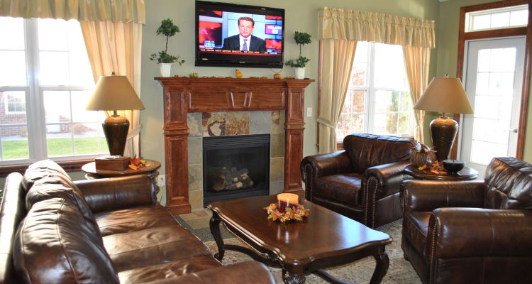 The Fairways at Timber Banks offers a luxury living room in Baldwinsville, NY