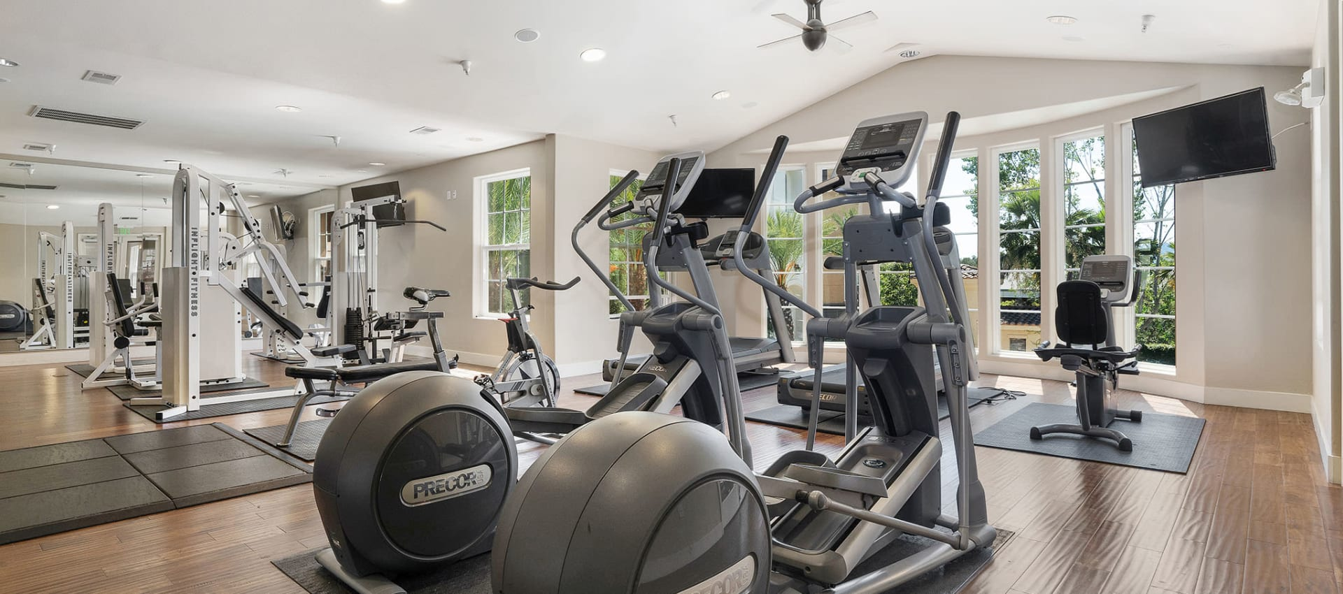 Expansive Fitness Center at Park Central in Concord, California