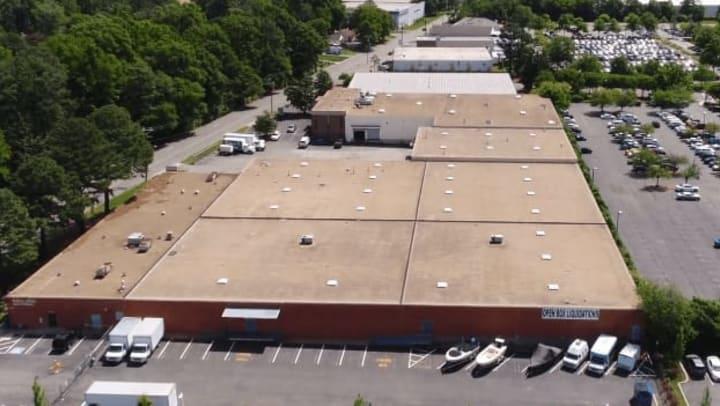 Aerial view of Extra Attic Mini Storage in Richmond, Virginia