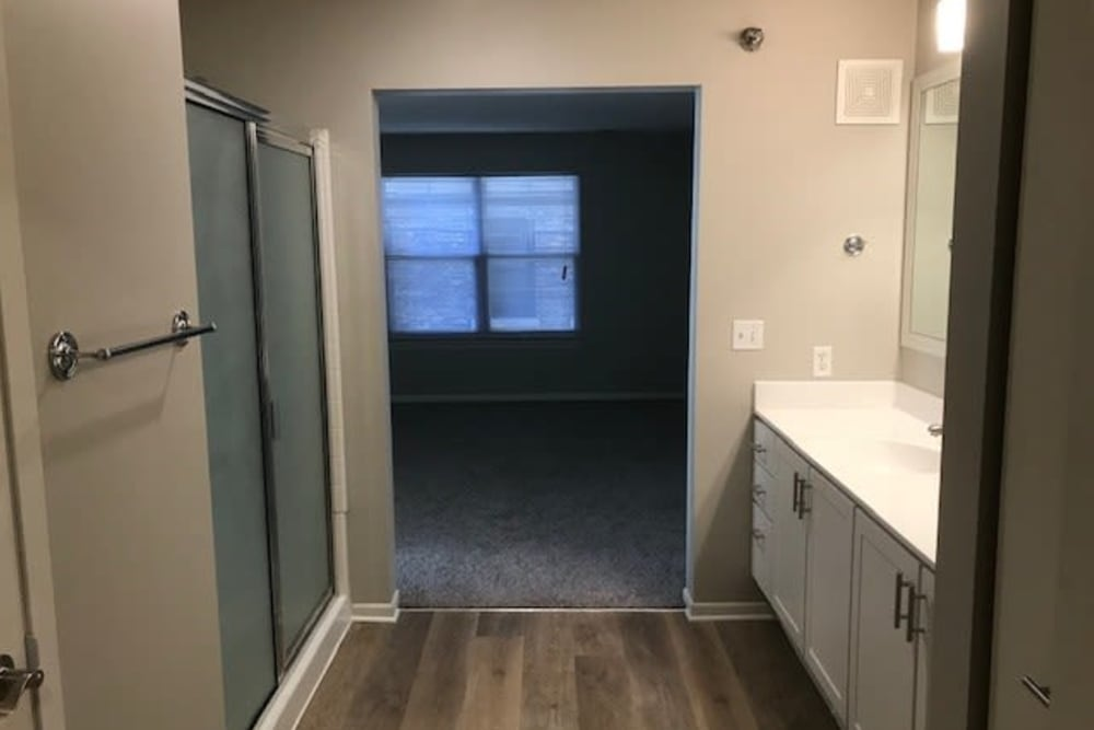 Luxury bathroom at Loring Park Apartments in Minneapolis, Minnesota