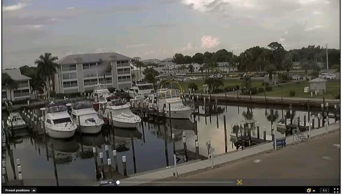 Marina view at Aquamarina Palm Harbour in Cape Haze, FL