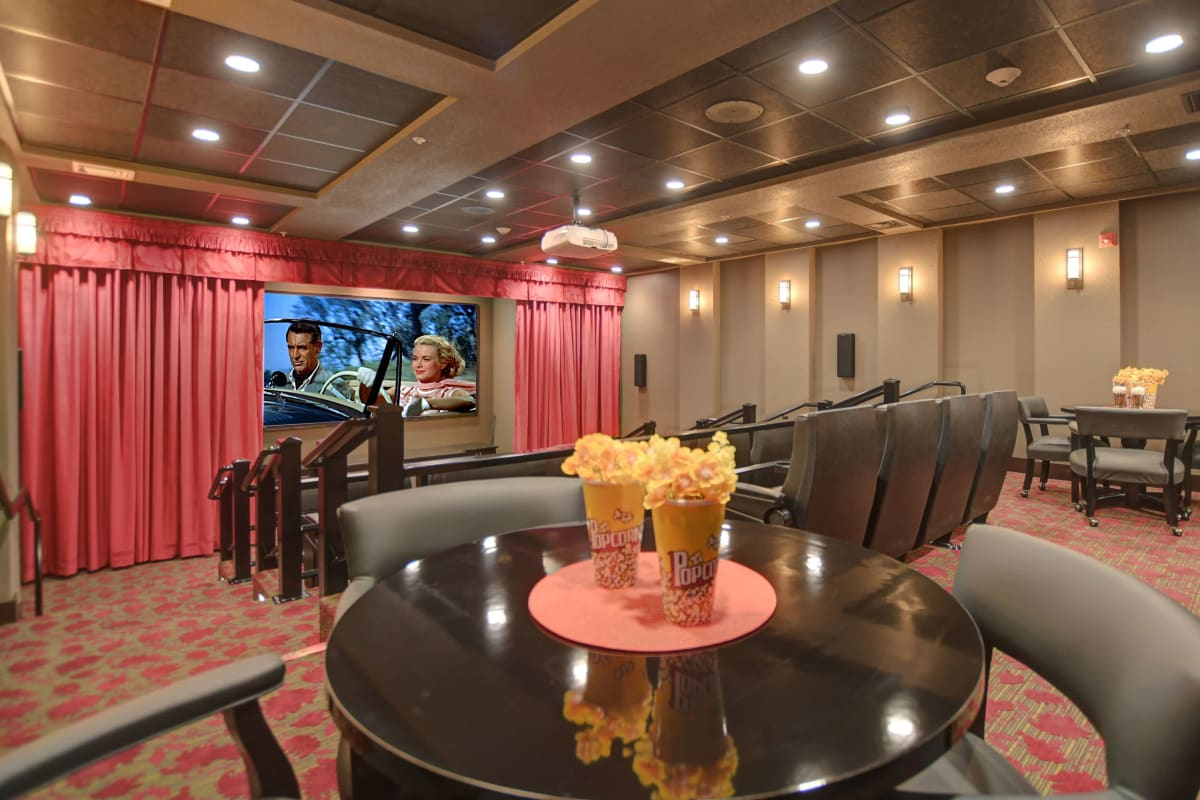 Theater at Hudson Estates Gracious Retirement Living in Lansdale, Pennsylvania