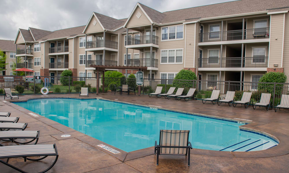 Sparkling swimming pool at Winchester Apartments in Amarillo, Texas