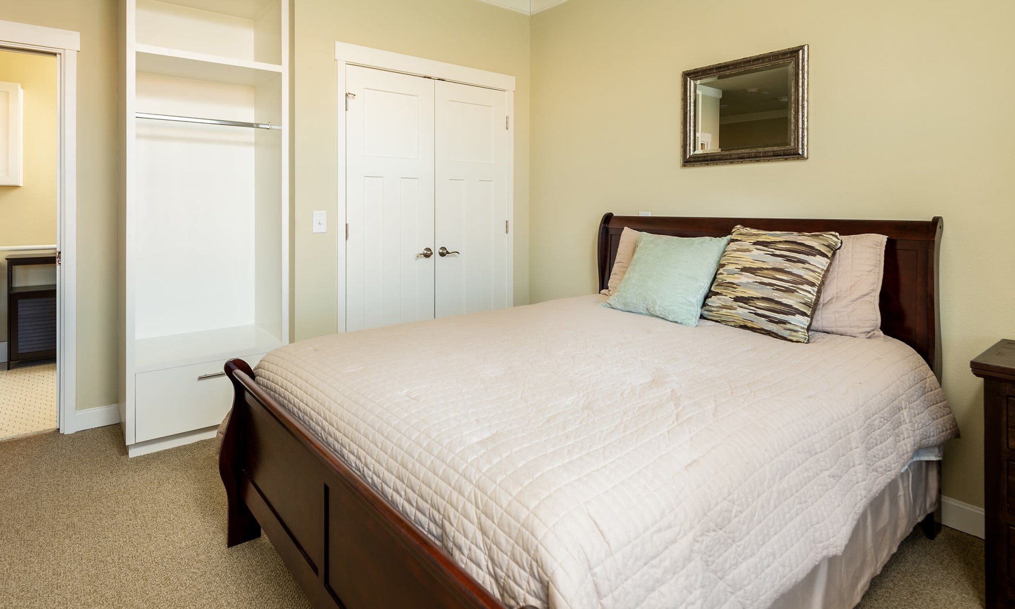 Private bedroom at MacArthur Hills in Irving, Texas
