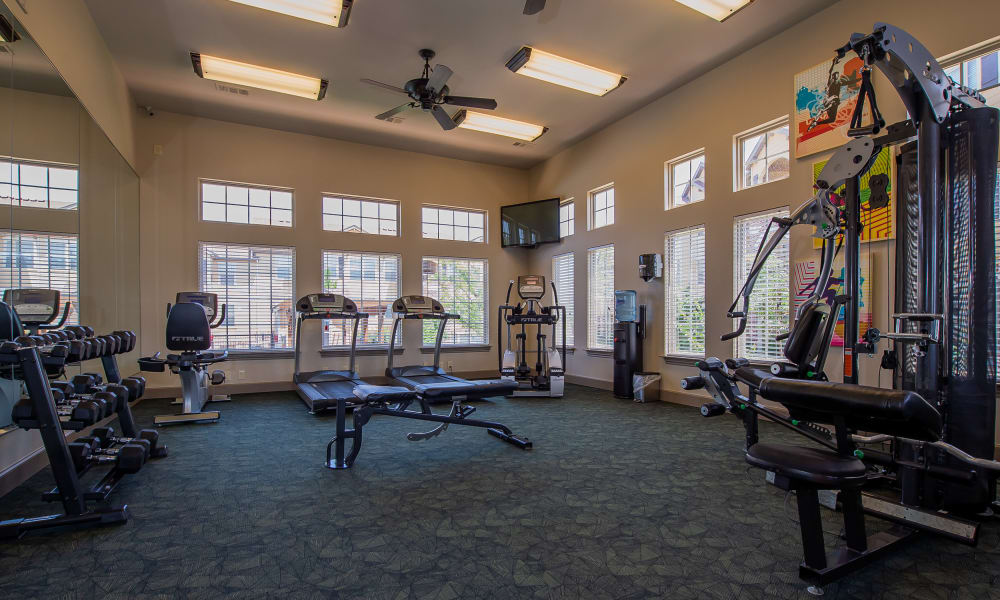 Fitness center for resident use at Park at Tuscany in Oklahoma City, Oklahoma