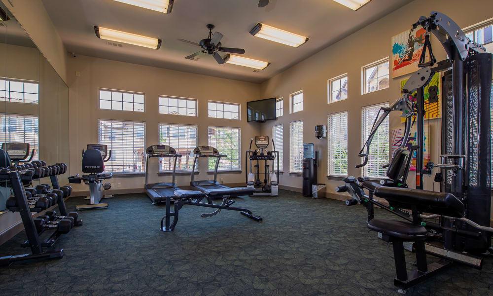 Fitness center for resident use at Park at Tuscany in Oklahoma City, Oklahoma