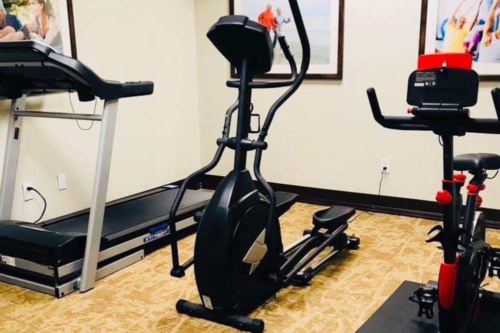 Fitness room at Lionwood in Oklahoma City, Oklahoma