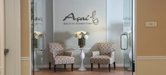 Happy Maplewood at Darien couple enjoying their new look, courtesy of our on-site Salon, Açai.