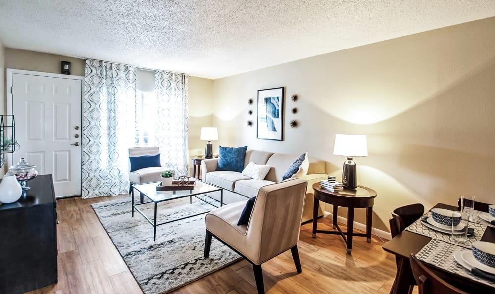 Living Room View 2 Broadmoor Ridge Apartment Homes in Colorado Springs, Colorado