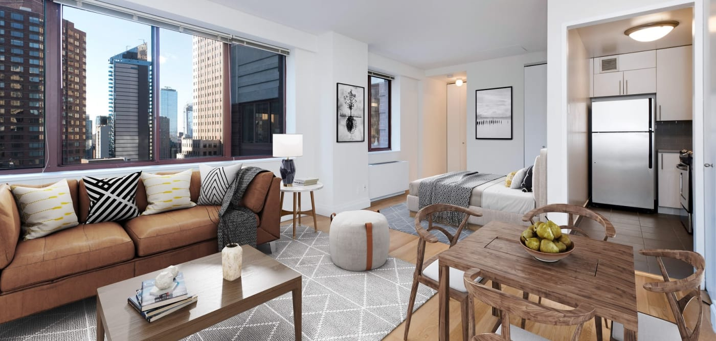 Studio apartment with a view at The Ellington in New York, New York