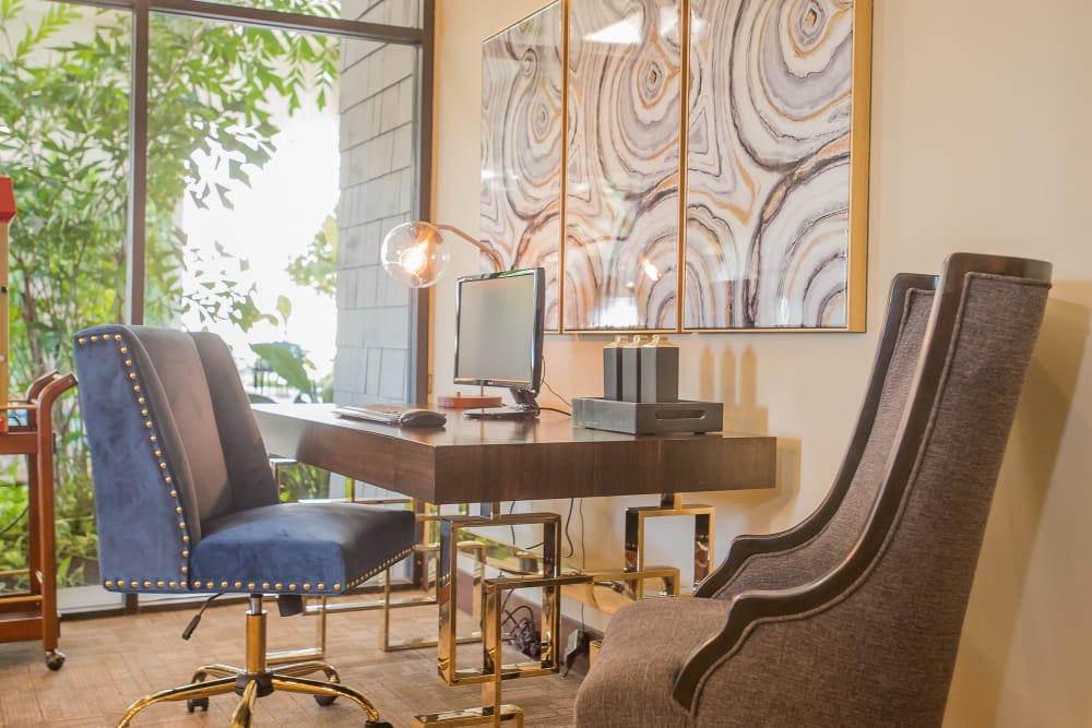 Sunchase Apartments business center in Tulsa, Oklahoma
