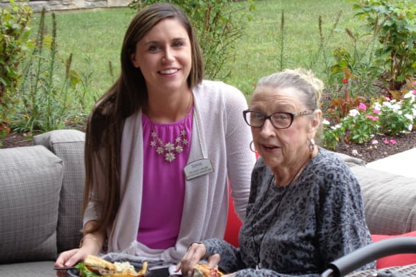 Delaney & Rachel at Discovery Senior Living Resident-Staff Picnic in Bonita Springs, Florida