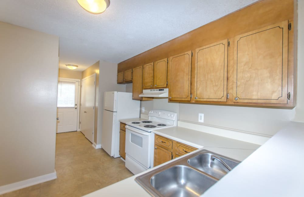 A kitchen with plenty of counterspace at Wexford Apartment Homes in Charlotte, North Carolina