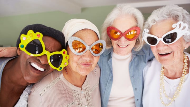 Senior Women Wearing Fun Sunglasses
