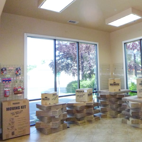Packing supplies available at Missouri Flat Storage Depot in Placerville, California