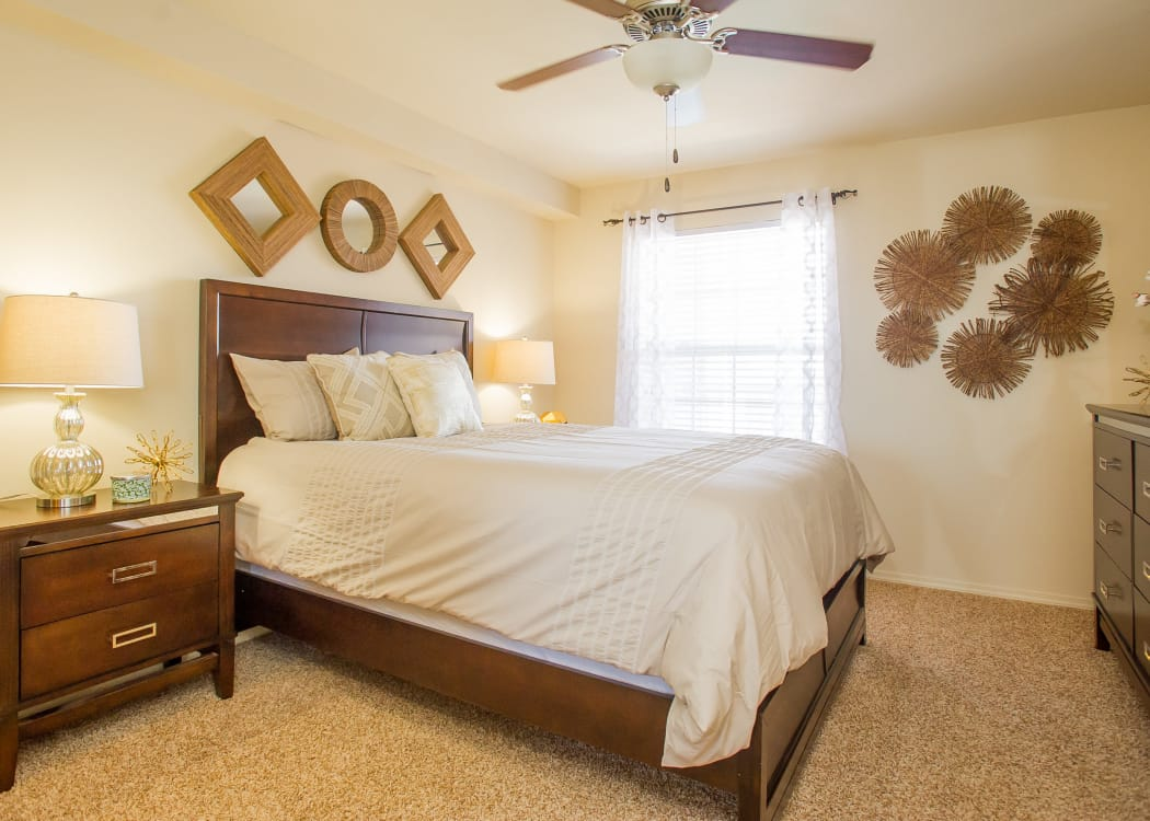 Bright bedroom at Tuscany Hills at Nickel Creek in Tulsa, Oklahoma