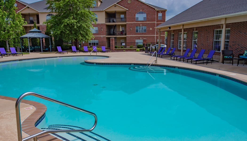 The pool at Lexington Park Apartment Homes in North Little Rock, Arkansas