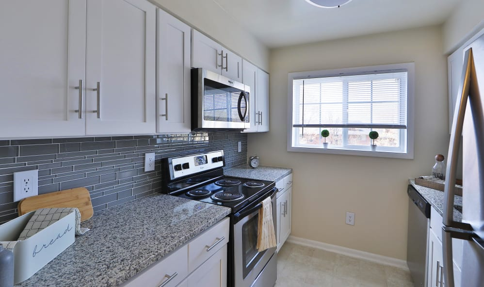 Kitchen at High Acres Apartments & Townhomes in Syracuse, New York