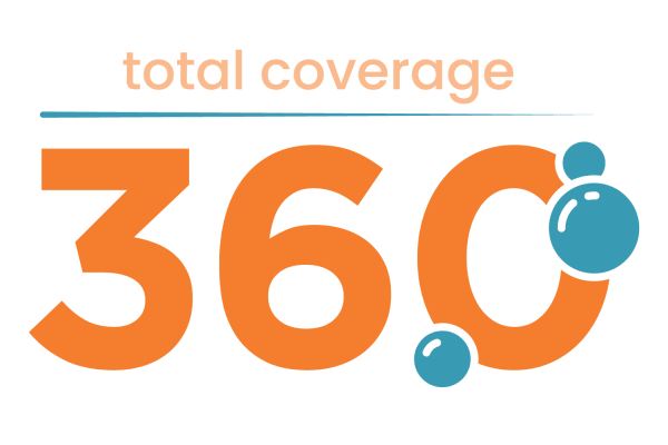 Total coverage 360 logo