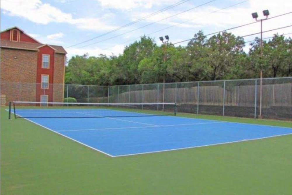 Tennis court at Carmel at Deerfield in San Antonio, Texas