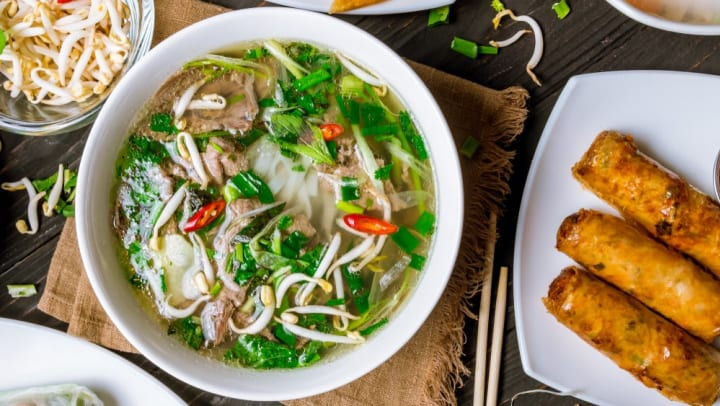 A delicious dish of Pho at one of the local restaurants near by Olympus Waterford in Keller, Texas.
