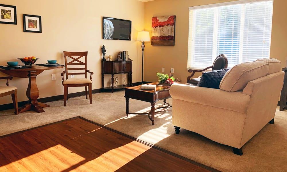 Living Room at Maple Ridge Senior Living