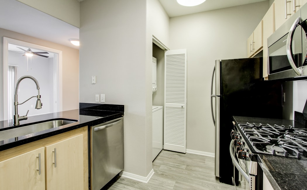 Spacious kitchen in model home at Brooks Landing in Modesto, CA