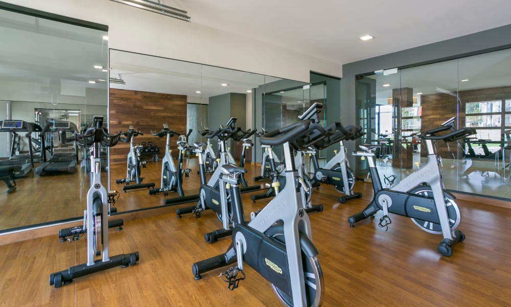 Fitness city with stationary bikes at The Brodie in Westminster