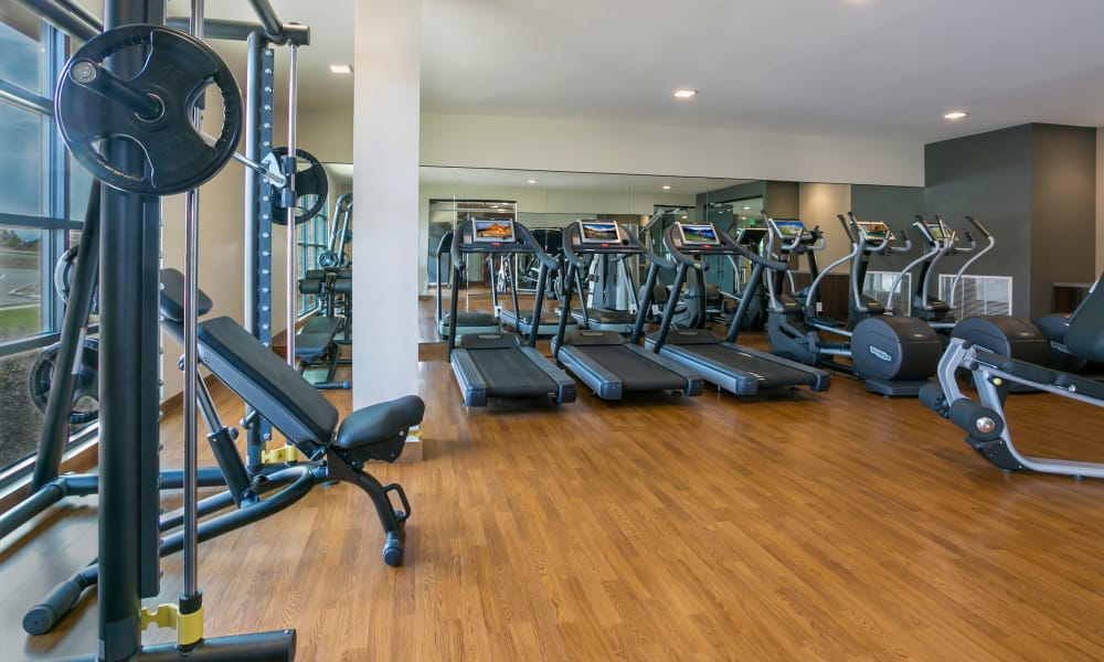 Fitness center with treadmills at The Brodie