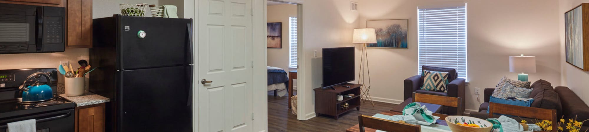 Floor plans at Trifecta Apartments in Louisville, Kentucky
