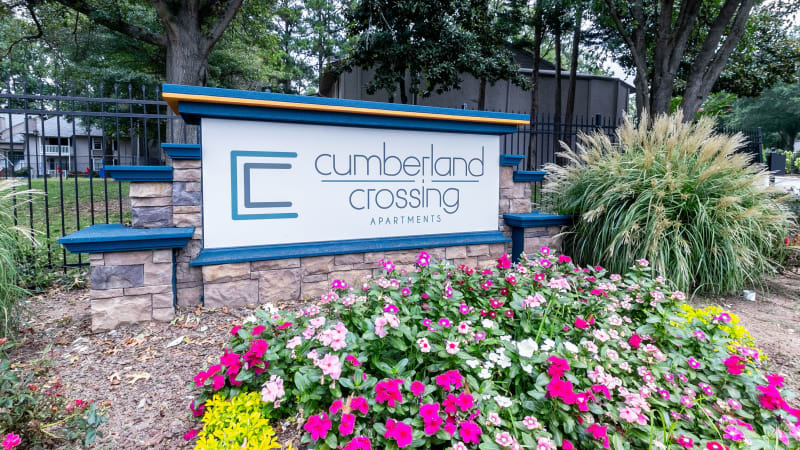 Front entrance to Cumberland Crossing in Marietta, Georgia