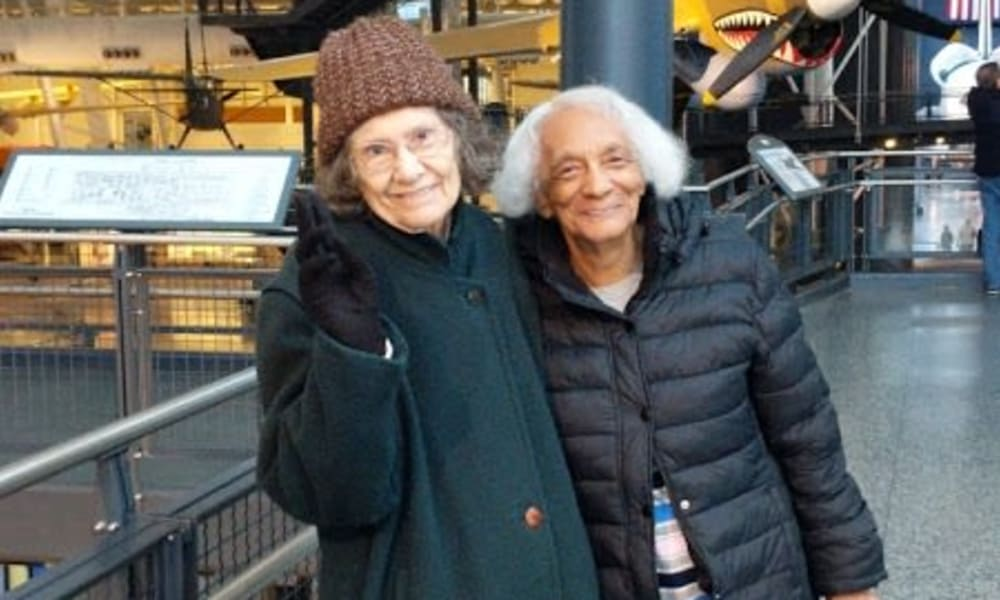 Two residents of Wilshire Estates Gracious Retirement Living in Silver Spring, Maryland