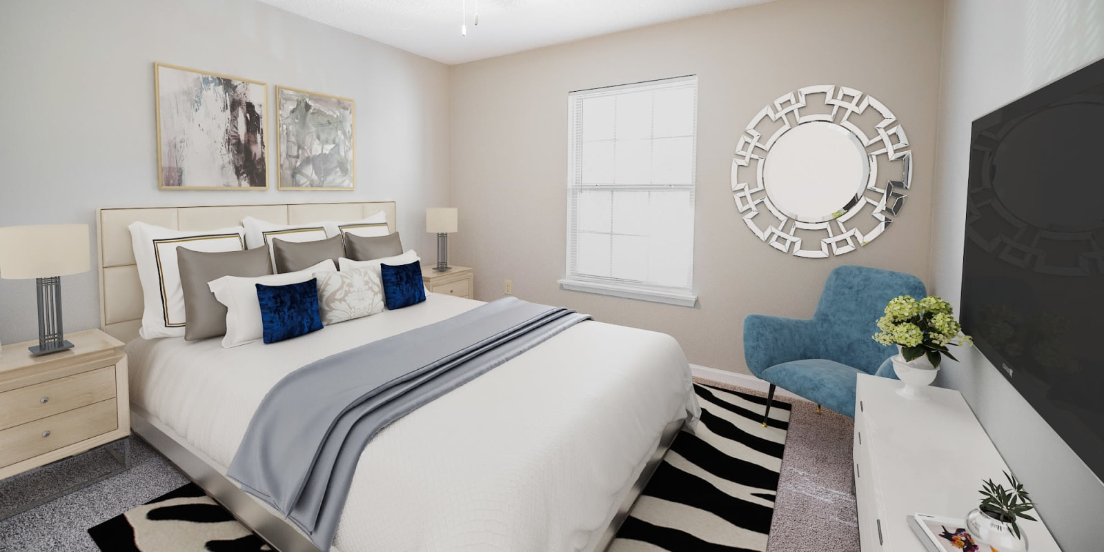 Bright Bedroom at Parkway Station Apartment Homes in Concord, North Carolina