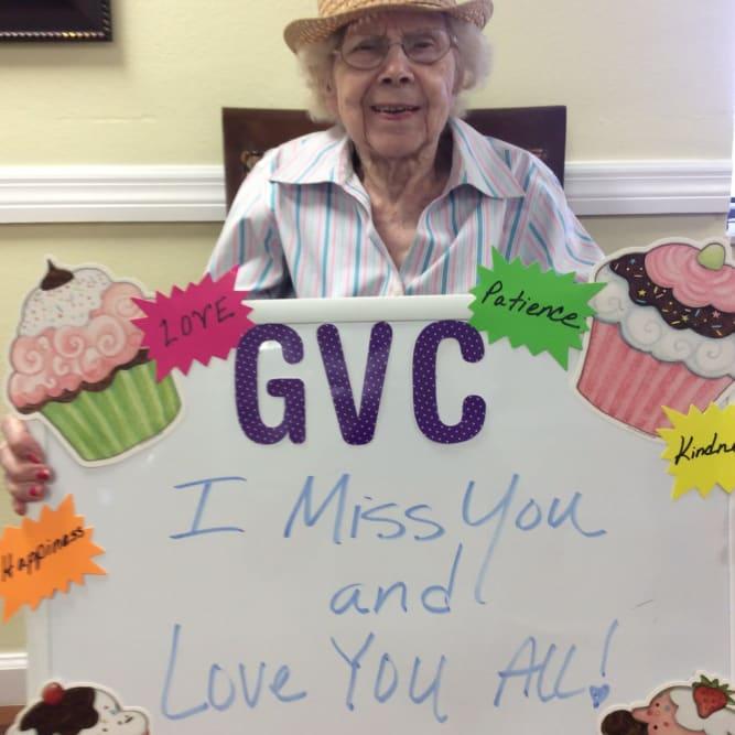 Message to the family from Grand Villa of Boynton Beach in Boynton Beach, Florida