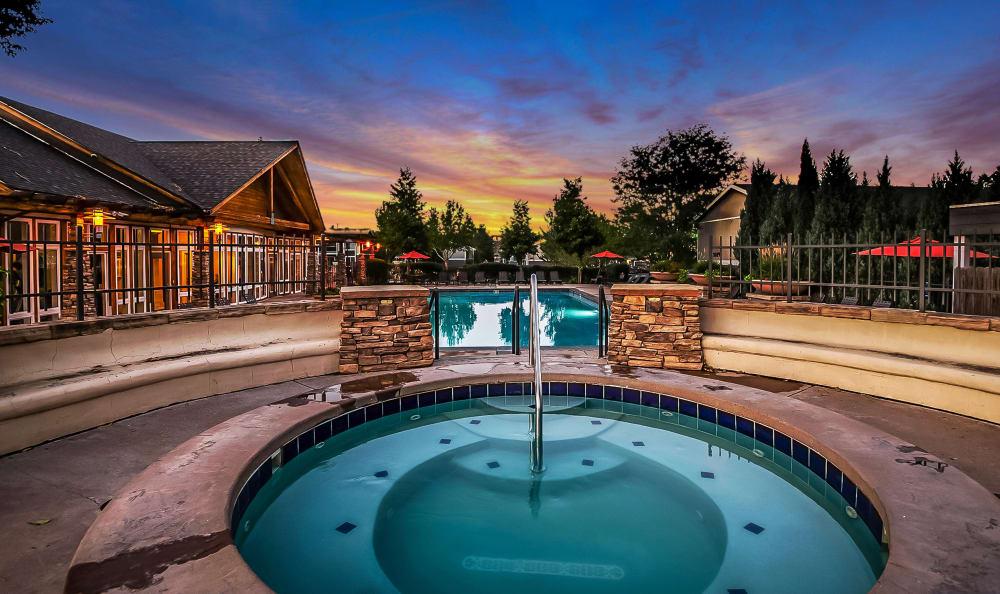 Hot tub at Broadmoor Ridge Apartment Homes in Colorado Springs, Colorado