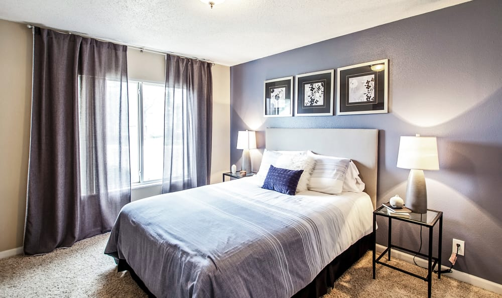 Bedrooms at Broadmoor Ridge Apartment Homes in Colorado Springs, Colorado