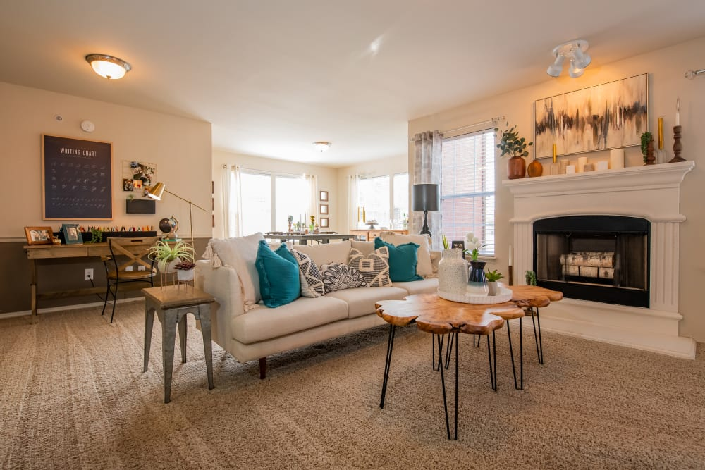 Bright living room at Colonies at Hillside in Amarillo, Texas