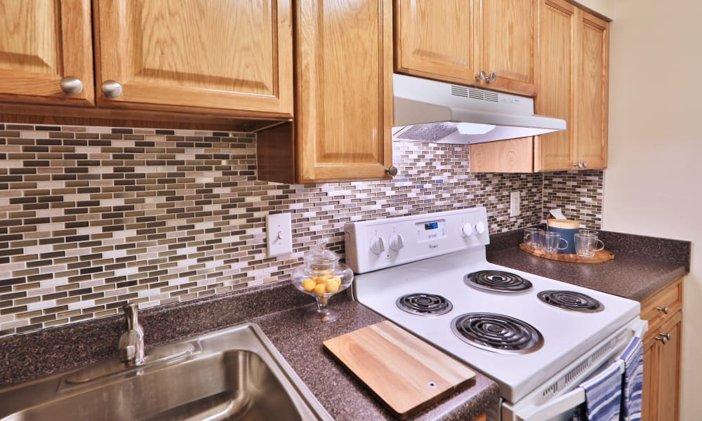 Kitchen Space at The Willows Apartment Homes in Glen Burnie, Maryland