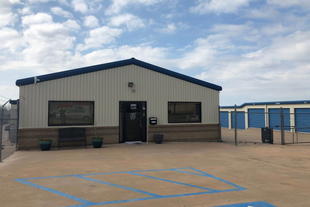 Front Office Exterior at Wichita Falls, Texas near Security Storage