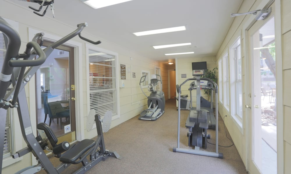 A fitness center at Mountain Village in El Paso, Texas