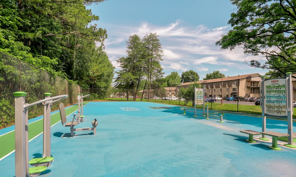 Unique swimming pool at Parkview Flats in Murfreesboro, Tennessee