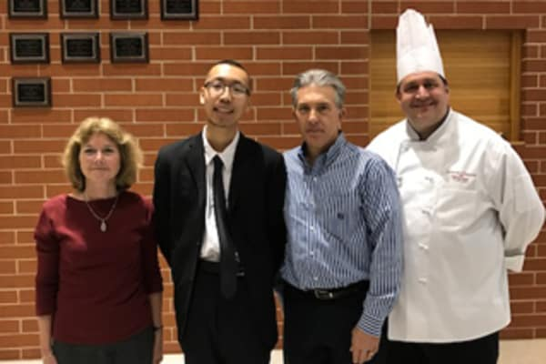 Jerry Zheng receives Arbour Square of Harleysville's 2017 Keith Howe Memorial scholarship