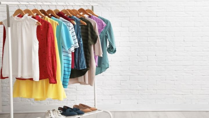 store clothes in a clean space