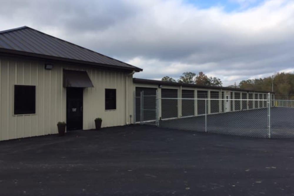 Fenced units at American Self Storage in Maylene, Alabama