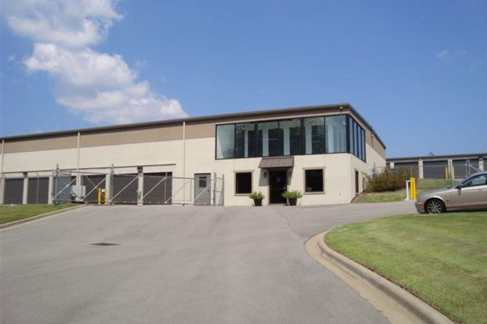 Exterior of the main office at Fieldstown Road Self Storage in Mount Olive, Alabama