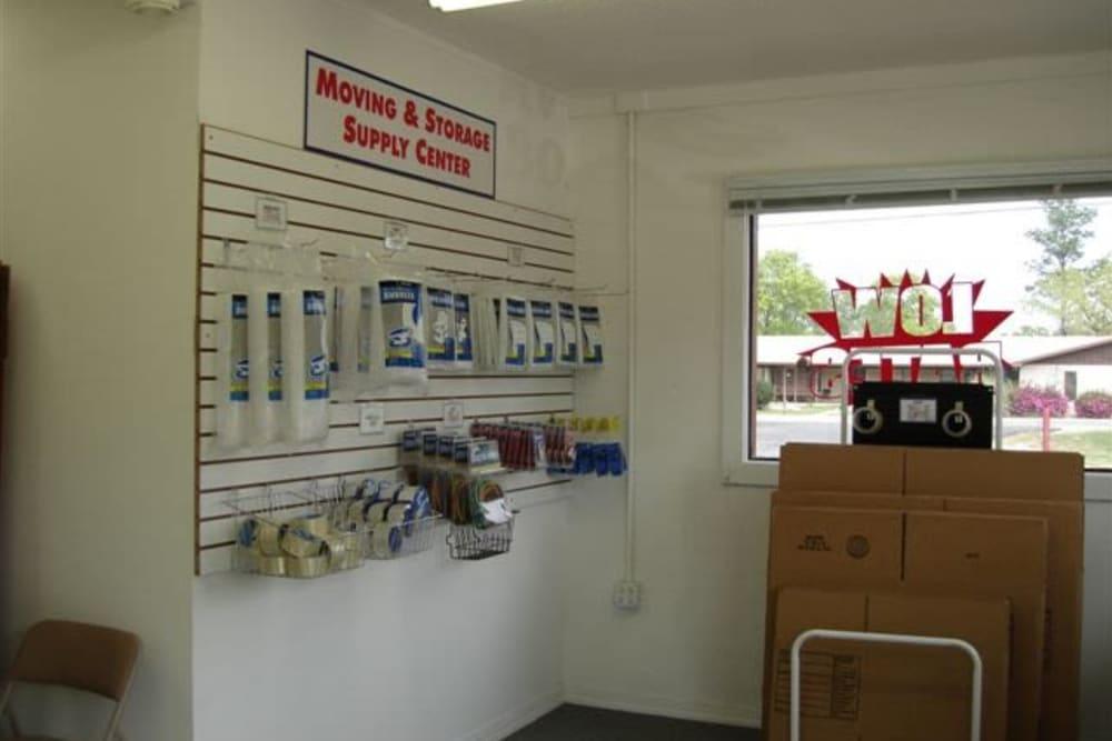 Packing supplies at Denton Road Mini Storage in Dothan, Alabama